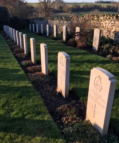 Royal Canadian Air Force graves in North Luffenham Churchyard 1952, 1953 and 1954