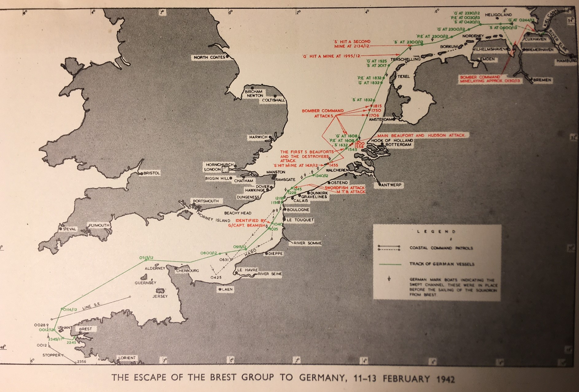 Empty chairs and empty tables – Operation Fuller – 12 February 1942 'the Channel Dash'